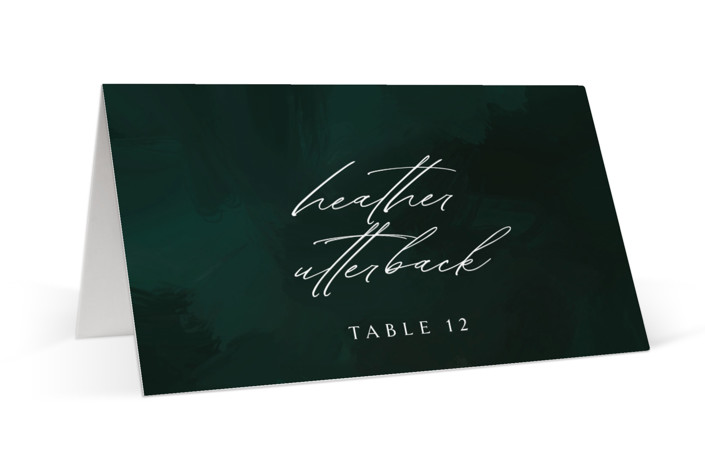 emerald Place Cards