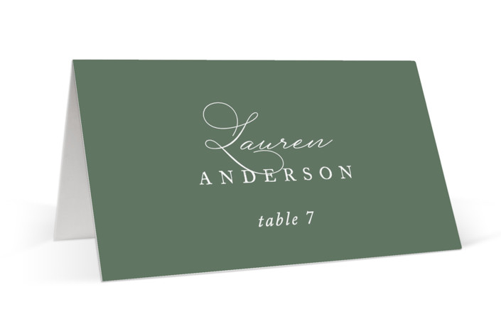 Initial Place Cards