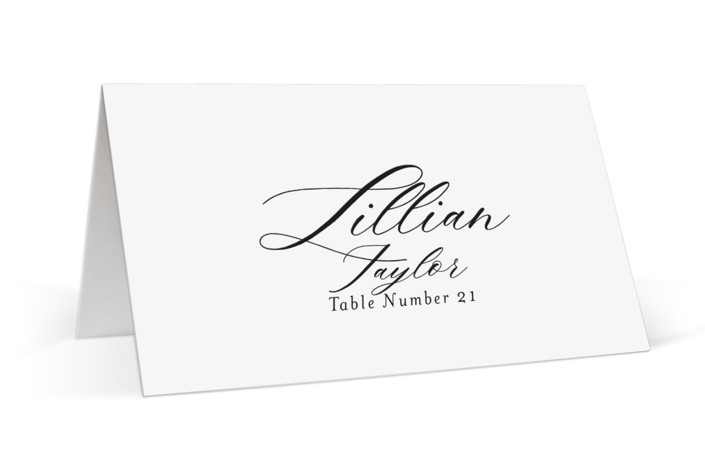 whimsical ampersand Place Cards