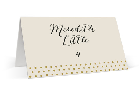 Milkglass Border Place Cards