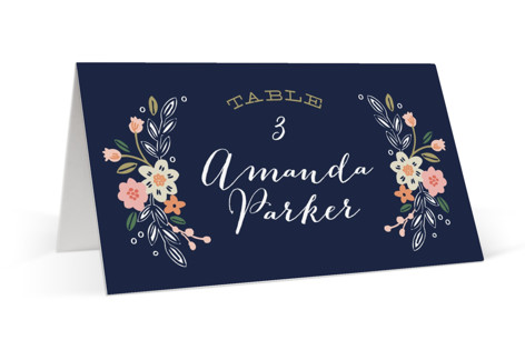 Wildflower Crest Place Cards