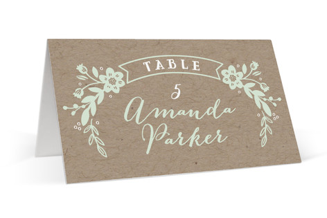 Ampersand Floral Place Cards