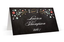 Chalkboard Floral Place Cards