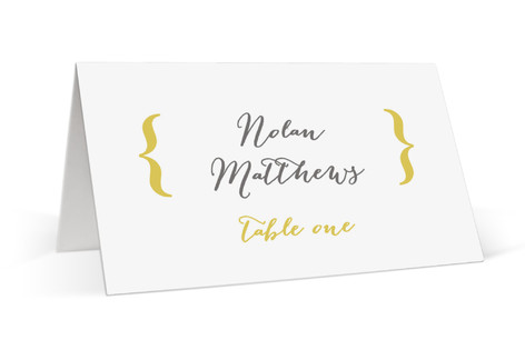 Bold Brackets Place Cards