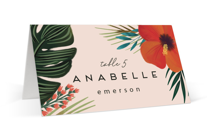 Tropical Oasis Place Cards