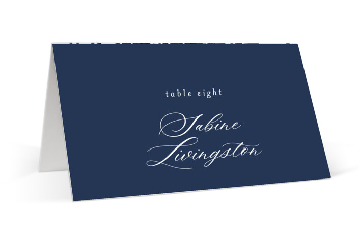 brushstrokes in bloom Place Cards