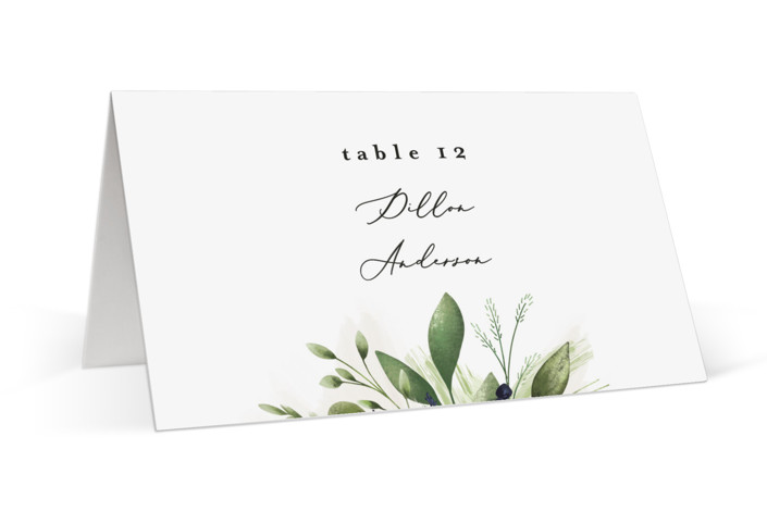 Greenery Banner Place Cards
