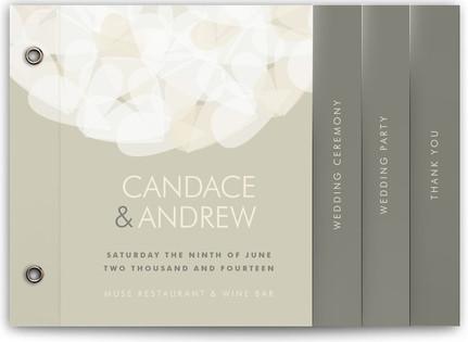 Modern Tulle Wedding Program Minibooks