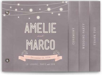 Paris Lights Wedding Program Minibooks