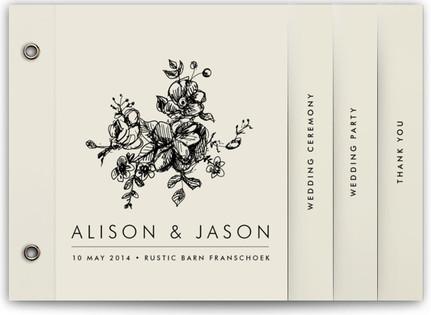 Elegance Illustrated Wedding Program Minibooks