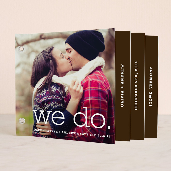 """""""We Do"""" - Simple, Modern Unique Wedding Programs in Chocolate by annie clark."""