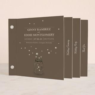 Fireflies Wedding Program Minibook™ Cards