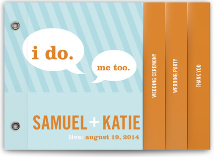Smart Conversation Wedding Program Minibooks