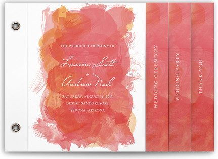 Aquarelle Wedding Program Minibooks