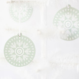 Mint Geometric Snowflake