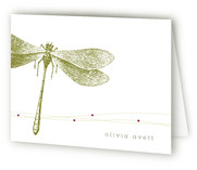 Dragonfly Folded Personal Stationery