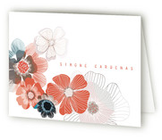 Dry Petals Folded Personal Stationery