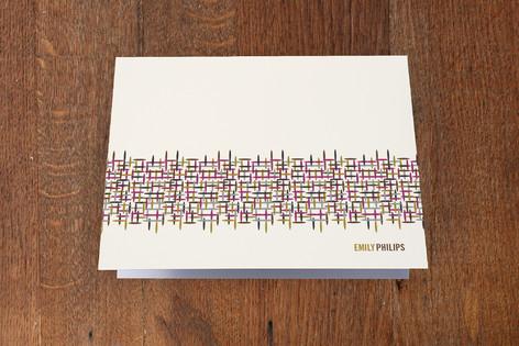Fabricate Folded Personal Stationery