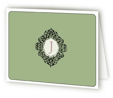 Monogram Folded Personal Stationery