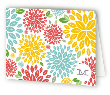 Spring In Bloom Folded Personal Stationery