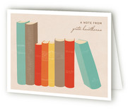 Book Lover Folded Personal Stationery