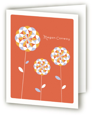 Lollipop Blooms Folded Personal Stationery