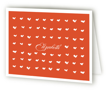 Tiny Hearts Folded Personal Stationery