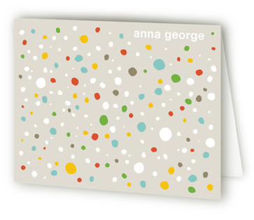 Colorful Pebbles Folded Personal Stationery