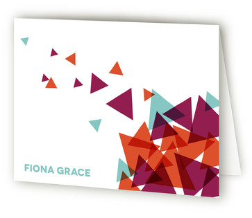 Gravity Folded Personal Stationery