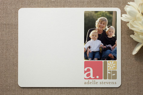 alpha blocks Personalized Photo Stationery