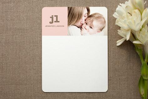 modern mommy Personalized Photo Stationery