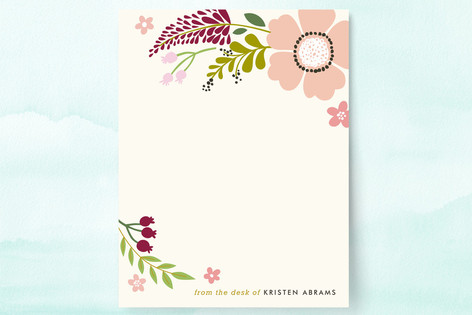 Victorian Mod Floral Personalized Stationery