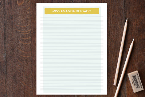 Hello Miss Stripey Personalized Stationery