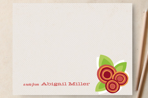 Floral Bounty Personalized Stationery