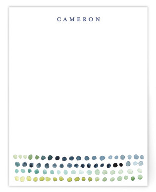 Watercolor Dots Personalized Stationery