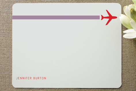 Contrail Personalized Stationery