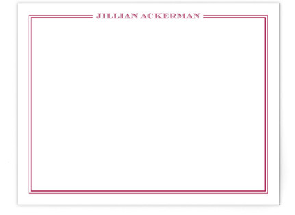 the lady Personalized Stationery