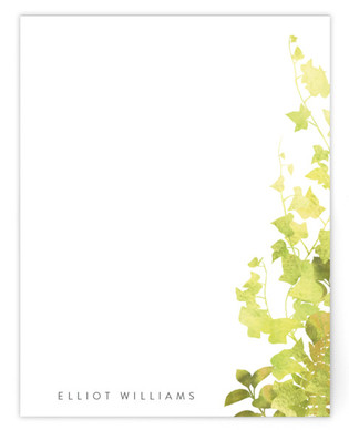 Green Ivy Personalized Stationery