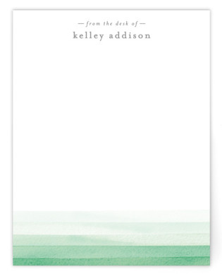 Watercolour Wash Personalized Stationery
