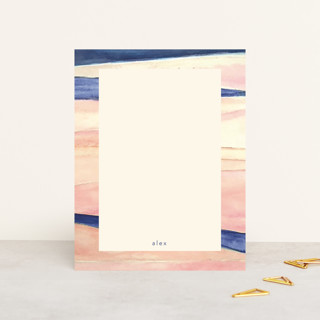 Abstract Pink and Navy Personalized Stationery