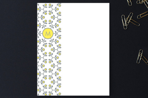 lemon lace Personalized Stationery