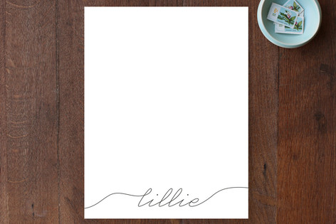 Flourished Paper Personalized Stationery