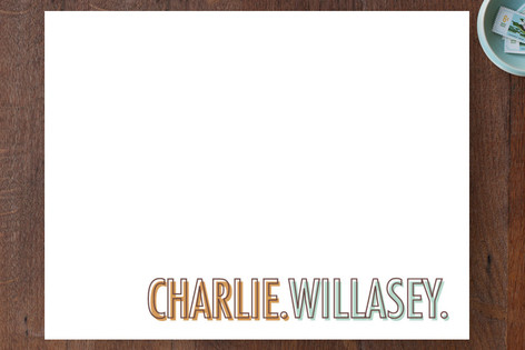 Two Words Personalized Stationery