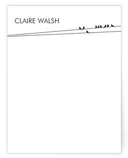 Birds on a Wire Personalized Stationery