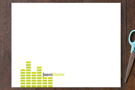 Audiophile Personalized Stationery