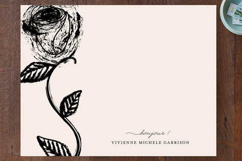 Paris + In The Rose Garden Personalized Stationery