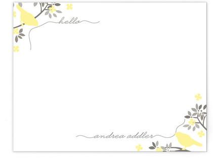 Hello Birdy Personalized Stationery