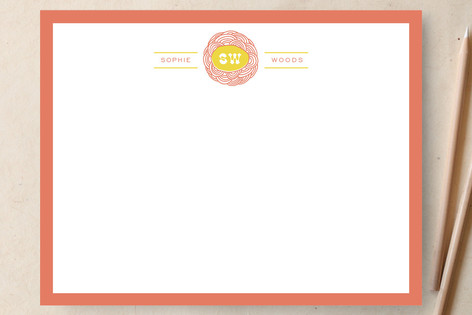 Rose Personalized Stationery