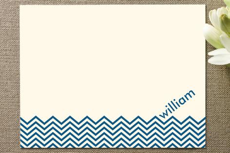 Chevron Waves Personalized Stationery