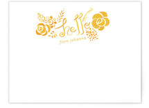 Hello Yellow Personalized Stationery